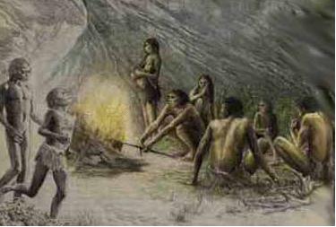 manusia gua dan api